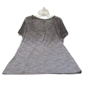 Plus Size Heathered Gray Athleisure Workout Top 3X